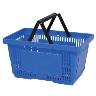 28L Plastic Hand Basket with NH light blue large