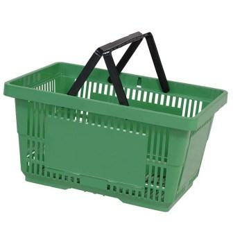 28L Plastic Hand Basket with NH light green large