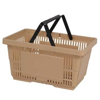 28L Plastic Hand Basket with NH tan large
