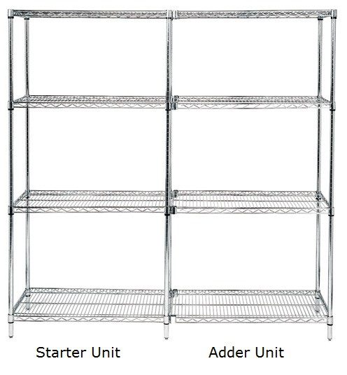 304 Stainless Steel Wire Shelving