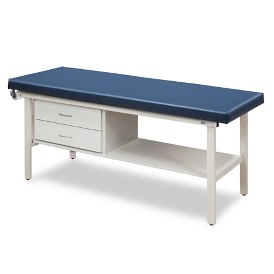 3130 Alpha Treatment Table With Shelf Two Drawers