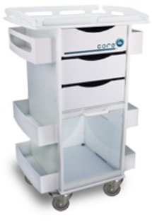 50924-White-Polyethylene-Core-DX-Storage-Cart-with-Security-Railed-Top