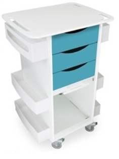 51171-Bahamas-Sea-Teal-Polyethylene-Medical-Cart