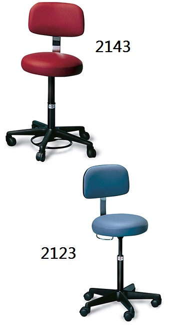 Air Lift Stool Padded Backrest
