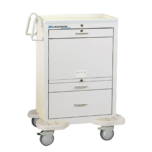 C 330 MUS TW 3 Drawer Medication Cart Closed2