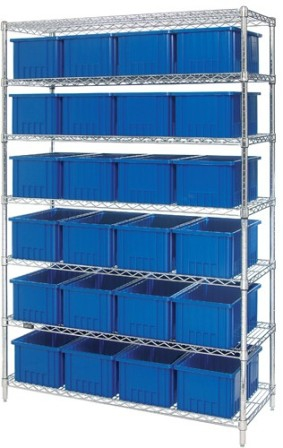 Chrome-Wire-Shelving-Dividable-Grid-Containers