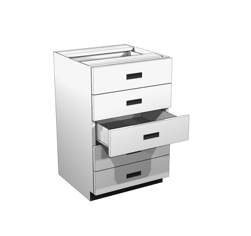 Lozier Five Drawer Rx Cabinet. Drawer Unit Lozier