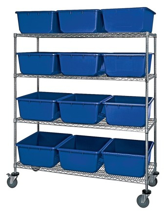 Mobile-Chrome-Wire-Shelving-Cross-Tubs-and-Nesting-Tote