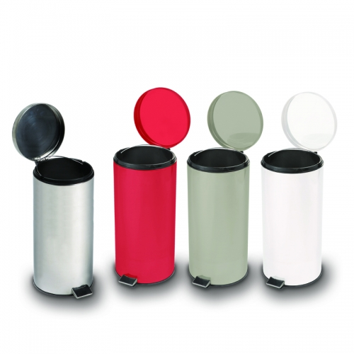 Waste Cans Round Steel Waste Cans