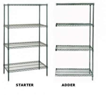 Epoxy Coated Wire Shelving2