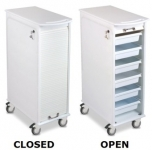 Tambour Door Narrow Cart