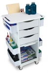 CORE DX Deluxe White Polyethylene Medical Cart