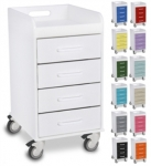 Polyethylene Compact 4 Drawer Locking Cart