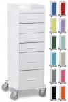 Tall Slim Locking 6 Drawer Cart