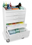 Polyethylene Locking 6 Drawer Procedure Cart