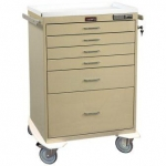 Anesthesia Cart - Pushbutton Lock