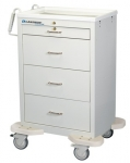 Medication Cart, Punch Card, Four Drawer