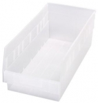 Clear-View Store More 6 Inch High Shelf Bins