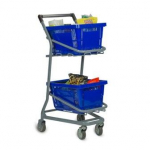 EZcart Double Basket Shopping Cart