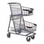 EXpress 5151 Two-Tier Wire Shopping Cart