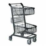 EXpress 6000 Two-Tier Wire Shopping Cart