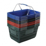 30L Shopping Basket Wire Handles