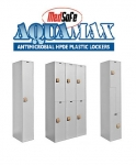 MedSafe™ Aquamax™ Antimicrobial HDPE Plastic Lockers