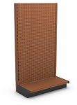 Tier Two Wall End Display Units - Pegboard