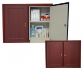 Wooden Laminate In Wall Double Resident Cabinets