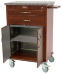 Wood Vinyl 2 Drawer Treatment Cart