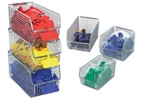 Wire Mesh Stack and Hang bins