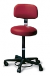 Air-lift Stool with Padded Backrest