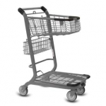 EXpress 3500 Two-Tier Wire Shopping Cart
