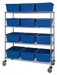 Mobile Chrome Wire Shelving Cross Tubs & Nesting Tote