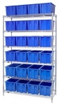 Chrome Wire Shelving Stack and Nest Totes