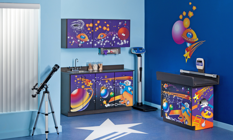 Space Place Pediatric Exam Room 187 Rxshelving